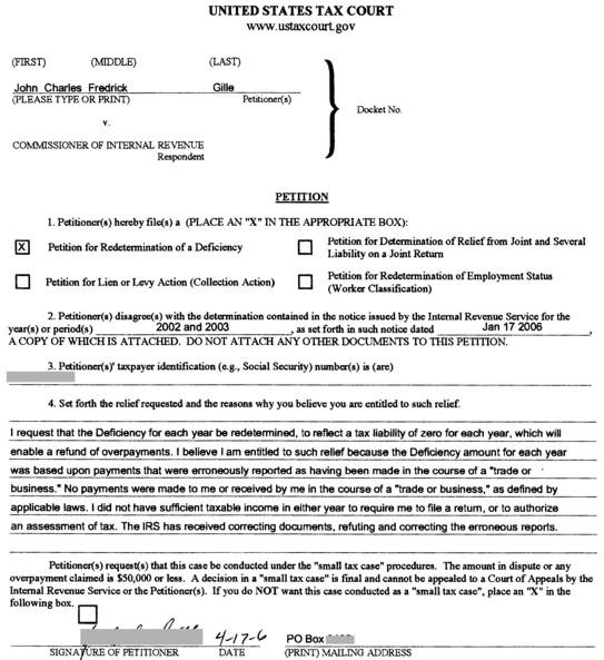 Write tax court case brief. STARTING A CASE - United States Tax Court