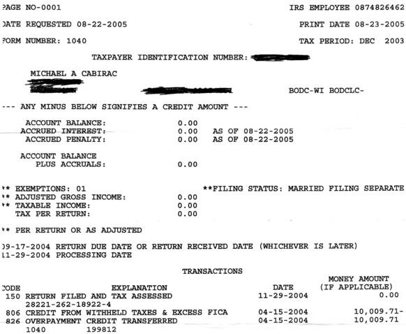 Irs Income Tax: Irs Income Tax Transcript