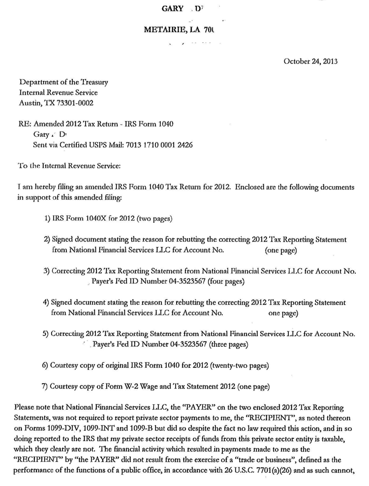 30 SAMPLE COVER LETTER FOR AMENDED TAX RETURN, LETTER FOR ...